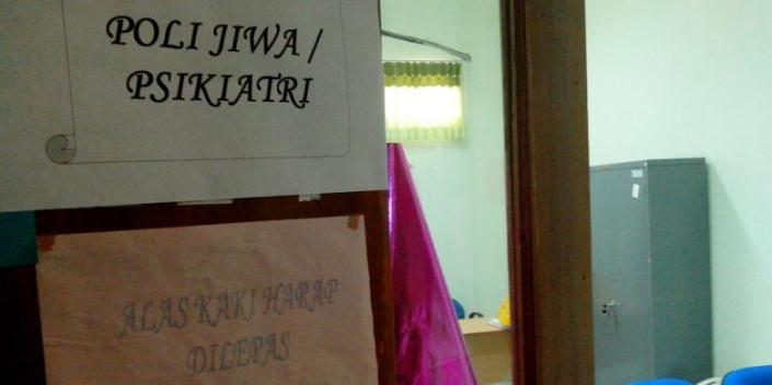 Ruangan Poli Jiwa dan Psikiatri di RSUD Nunukan, Kalimantan Utara. Beberapa caleg gagal dilaporkan menjalani perawatan di rumah sakit ini. (photo courtesy kompas.com)