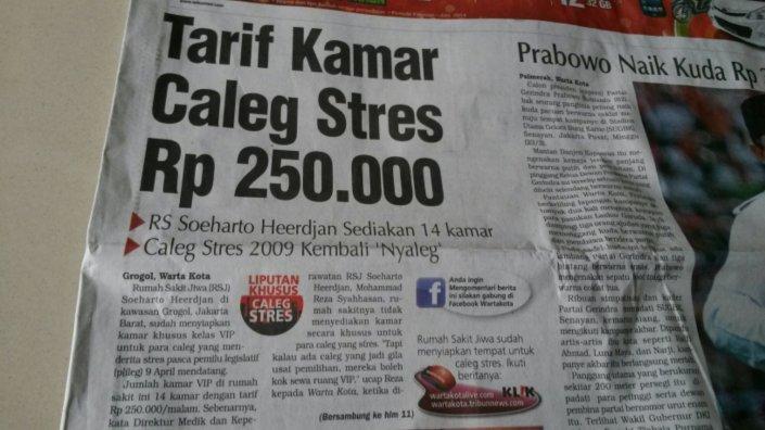 Caleg Stress Ancam Anggaran BPJS?