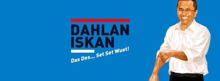 "Slogan iklan Dahlan Iskan, ""Das des set set wuet"", ternyata banyak disalahartikan oleh masyarakat. Respon tersebut membuat Dahlan mengevaluasi kembali slogan ini."