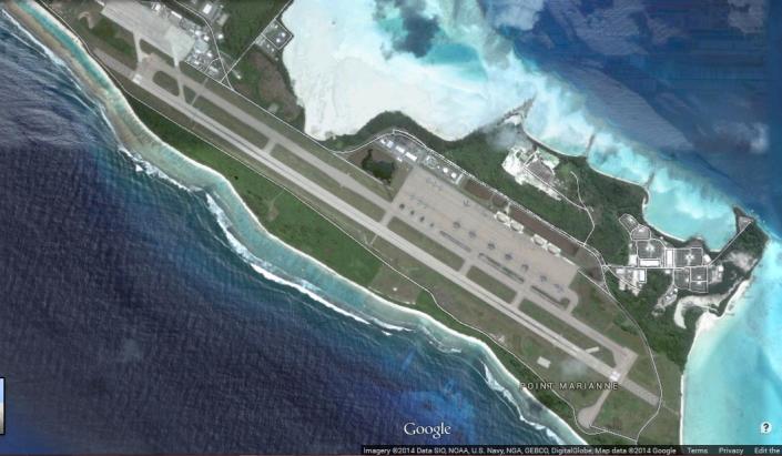 Pangkalan militer AS-Inggris di Diego Garcia, Samudera Hindia. Disebut sebagai Pos Delta-Gamma, pangkalan ini menjadi asal dari dokumen CIA yang bocor mengenai peningkatan potensi ancaman KAIJU bagi umat manusia. (photo courtesy truthnewsinternatonal.wordpress.com)