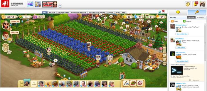 Farmville, permainan berbasis media sosial yang dapat ditemui di Facebook. Konsep e-sawah Jokowi disinyalir mirip dengan permainan ini, namun dibantah oleh para pendukungnya yang mengatakan hanya orang-orang pintar yang bisa memahami program tersebut. (photo courtesy zynga.com)