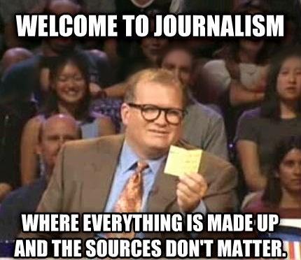 Sebuah meme di dunia maya yang berisi kritik terhadap media jurnalistik modern, yang dianggap mulai meninggalkan prinsip-prinsip dan dasar etika jurnalisme. (photo courtesy cheezburger.com)